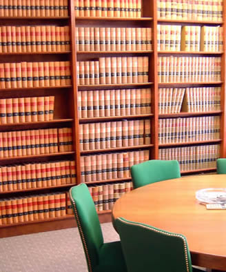 Law books in room